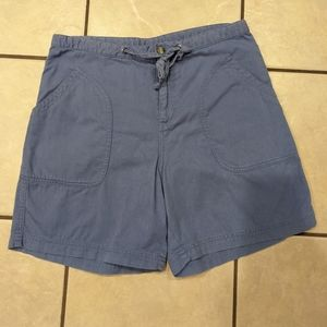 🍏 VINTAGE COLUMBIA Blue High-Waisted Mom Shorts